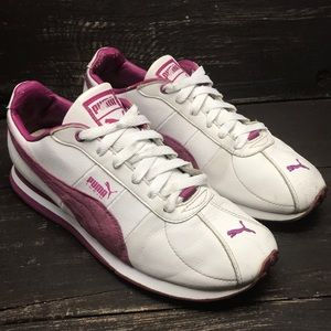 Puma Women's Pink/White Sneakers Size 7.5